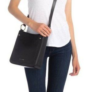 NWT! Rebecca Minkoff Black Jody Feed Bag Crossbody